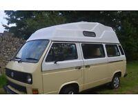 VW t25 high top Campervan. 1990. 8months MOT. New engine, gearbox, clutch. 5 seats, sleeps 2+2.