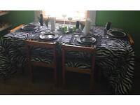 Solid wood dining table plus x4 chairs