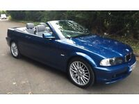 2003 BMW 318 CI CONVERTIBLE BLUE ONLY 70,000 MILES 12 MONTHS MOT