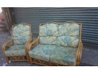 Wicker & bamboo conservatory chairs