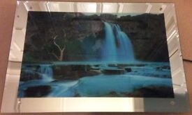 Flowing Waterfall-Moving 3D Electric Picture Wall Art(Light Up With Sound)