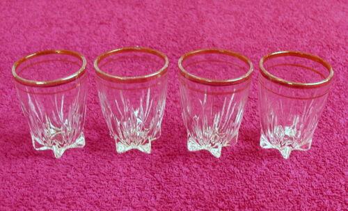 "Federal Glass (Star Gold) 2 1/4"" SHOT GLASS(es) (2 left)"