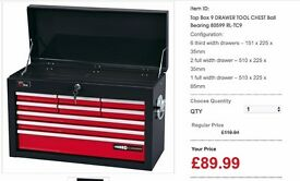 TOOL CHEST DEALS DRAPER Top Box 9 DRAWER TOOL CHEST Ball Bearing 80599 RL-TC9