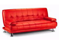 **7-DAY MONEY BACK GUARANTEE!**- Venice Premium Leather Sofa Bed Sofabed in 4 Colours! -BRAND NEW!