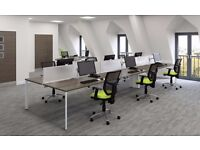 HIGH QUALITY SVEN X RANGE OFFICE BENCH DESKS WORK STATION DESKING SCREEN PARTITION + CABLE MANAGMENT
