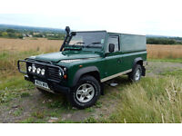 LAND ROVER DEFENDER TD5 LWB 45,100 MILES ONE OWNER. SERVICE HISTORY. REAR FOLD DOWN SEATS.