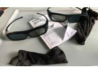 Sharp 3D glasses x 2