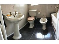 Ivory bathroom suite free to collect