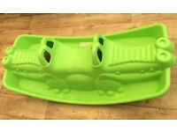 Kids green Crocodile Rocker for indoor or outdoor use