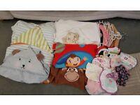 Baby Bath Towels / Wash Cloths / Bibs / Clothes Hangers £5