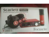 Focusrite Scarlett Studio 2i2 USB Audio Interface with Microphone & Headphones