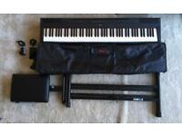 Yamaha P115 | Double XX Stand | Piano Stool | Stagg Travel Bag | Music Stand