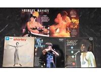 5 x shirley Bassey vinyl records