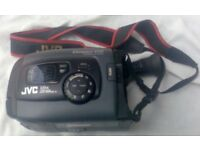 A JVC COMPACT VHS PROGRAMME MANAGER VIDEO CAMERA.