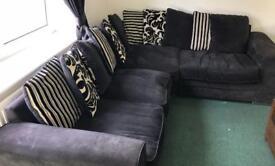 Corner sofa Black ...Now Sold