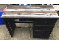 Wooden painted desk / dresser / chest of drawers in need of re-painting