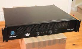 Crown XLS - 602 Power Amplifier. Good Working order PA / DJ /Disco