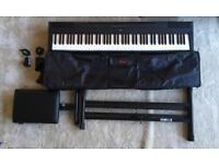 Yamaha P115 | Digital Piano | Double Brace Stand | Seat | Stagg Travel Case