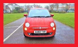(41500 Miles) --- 2011 Fiat 500 SPORT 1.2 --- half LEATHER Seats --- Low Mileages ---Sporty Fiat 500