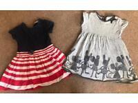 Girls 100% NEXT Dresses 2-3years