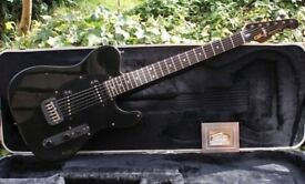 Collectable 1985 Black G&L Broadcaster With Factory Inspection Label Hand Signed By Leo Fender & OHC