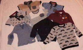 Boys Smart Short Sleeve T-Shirts, Cardigans & Jumpers 12-18 Months