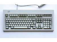 IBM PC Keyboard - Original 1980s 'buckling spring' type - Collectible vintage computer accessory