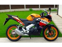 STUNNING CBR 125R ONLY 1500 MILES YZF-R 125 MT 125 UK DELIVERY AVAILABLE