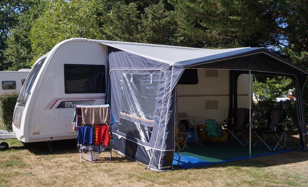 CARAVAN AWNING Inaca Mercury 420 IMMACULATE 1 Yr Old Only Used TWICE