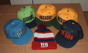 Casquettes Tuque Cap NFL Packers Bears Lions Seahawks Giants