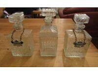 Vintage Crystal Decanter Set
