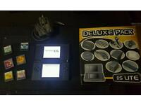 Black ds lite with games