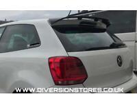 Gloss Black WRC Style Spoiler for VW Polo 6R/6C