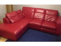 Furniture village st Lucia corner L shaped sofa real leather MAKE AN OFFER