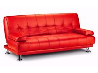 **7-DAY MONEY BACK GUARANTEE!**- Venice Luxury Leather Sofa Bed Sofabed -SAME DAY!