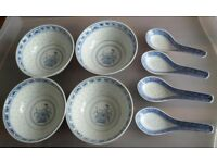 Vintage Chinese rice bowls