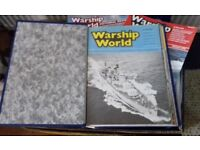 Complete set of Warship World & Pictorial Review Magazines in Binders