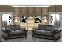 LUXURY DINO FABRIC SOFA RANGE.. CORNER SOFAS, 3+2 SETS, SWIVEL CHAIRS, FOOT STOOLS *FREE DELIVERY