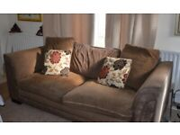 Sofa and Armchair Soft Brown DFS