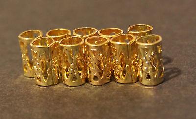 30 Micro Gold Dreadlock Dread Cuffs Hair Clips 4mm (5/32) + FREE Dread Ring - Dread Hair Clips