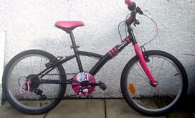 "BTWIN Misti Girl 320- 20"" wheels, 5 gears. Excellent condition Age 6-9"