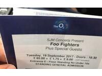 4 X FOO FIGHTER STANDING TICKETS TONIGHT 02 LONDON