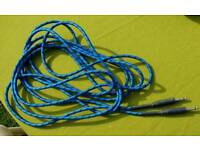 Braided guitar lead,new. 16 ft.