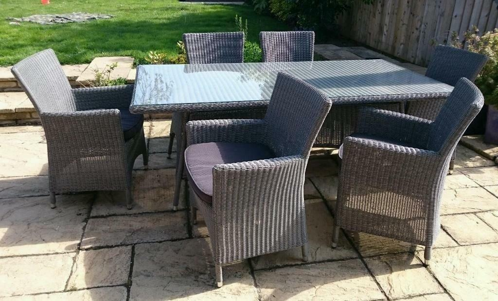 garden furniture 6 seater sets - Rattan Garden Furniture 6 Seater