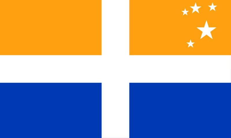 ISLES OF SCILLY FLAG - LARGE 5 X 3 FT NEW -  ITALY ITALIAN ISLAND 100% POLYESTER