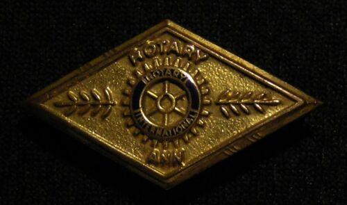 VINTAGE DIAMOND SHAPED INTERNATIONAL ROTARY ANN 10K GOLD FILLED PIN Anns