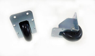 2 Pack Reliable Hardware 2-34 Recessed Caster- Zink Plated Steel 9024
