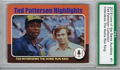 PSA Ted Patterson Collection 2019 Love Of The Game Interviews Home Run King