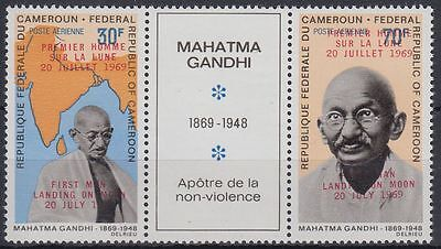Kamerun Cameroun 1969 ** Mi.592 I, 596 Weltraum Space Espace Mahatma Gandhi