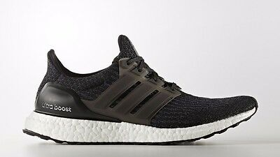 af7c4a4d7 NEW MENS ADIDAS ULTRA BOOST 3.0 RUNNING SHOES CORE BLACK WHITE SIZE 9.5  BA8842